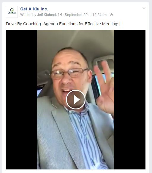 Drive-by Coaching with Jeff Klubeck