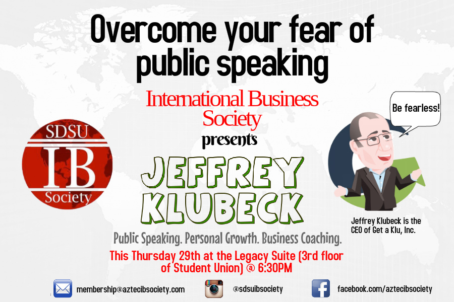 Jeff Klubeck Speaks at SDSU