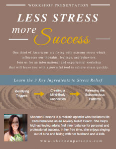 change is stress shannon parsons